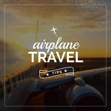 Airplane travel tips poster