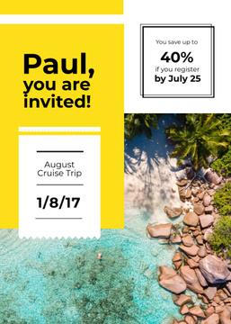 Summer Trip Offer Palm Trees at beach