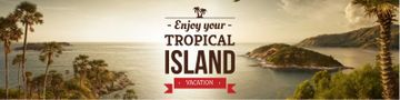Exotic tropical island vacation