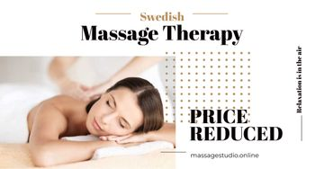 Swedish massage therapy advertisement