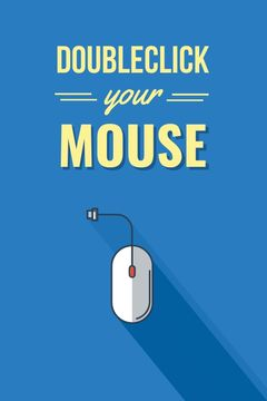 Computer Mouse in blue