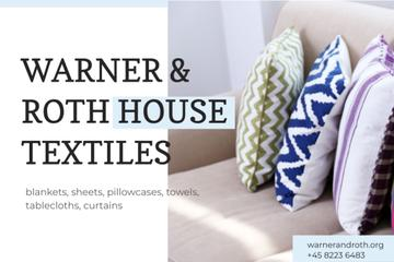 House Textiles with Cozy Pillows