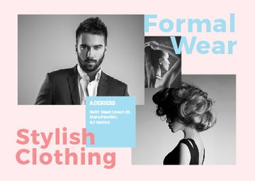 Formal wear store with Stylish People