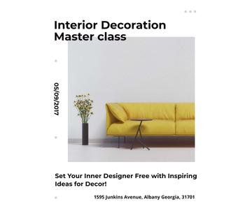 Interior decoration masterclass with Sofa in yellow