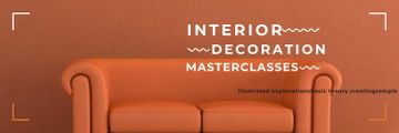 Interior Decoration Event Announcement Sofa in Red