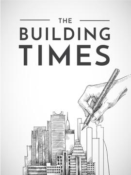 Building Times with hand drawing City