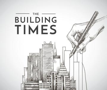Real Estate news with hand drawing Buildings