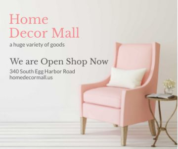 Furniture Shop Ad Pink Cozy Armchair