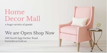 Home Decor Offer with Cozy Pink Armchair