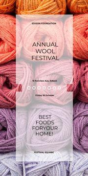 Knitting Festival Wool Yarn Skeins