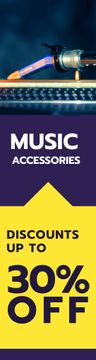 Music store sale banner