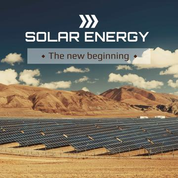 Energy Supply Solar Panels in Rows