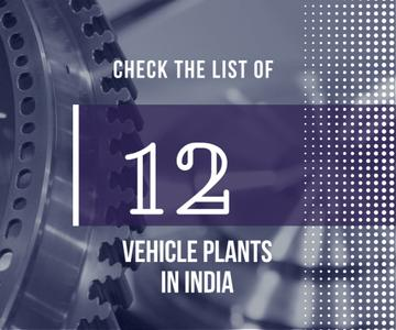 Vehicle plants in India poster