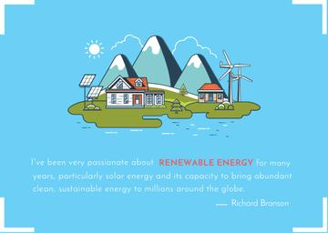 Renewable energy quote poster