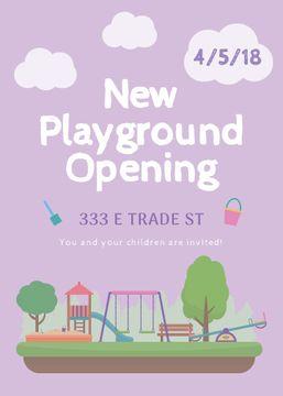 Kids playground opening announcement