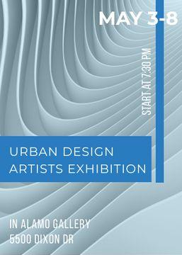 Urban design Artists Exhibition ad