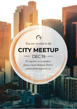 City meetup announcement on Skyscrapers view