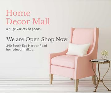 Furniture Store ad with Armchair in pink