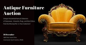 Antique Furniture Auction Annoucement