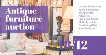 Antique Furniture Auction Announcement