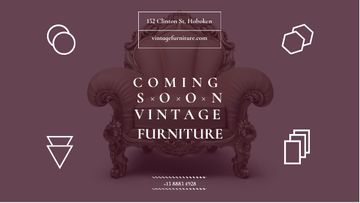 Antique Furniture Ad Luxury Armchair