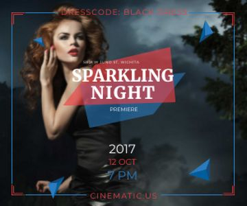 Sparkling night party poster