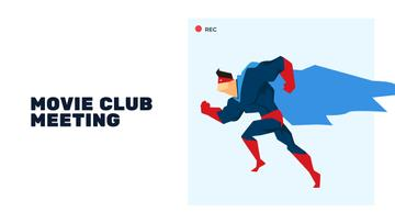 Movie Club Meeting with Man in Superhero Costume