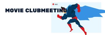 Movie Club Meeting Man in Superhero Costume