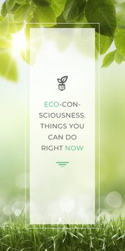 Eco Quote Light Bulb with Leaves