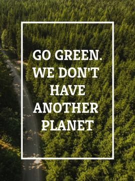 Ecology Quote with Forest Road View