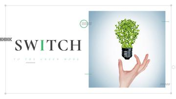 Eco Technologies Concept Light Bulb with Leaves
