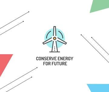 Green Energy Wind Turbine icon
