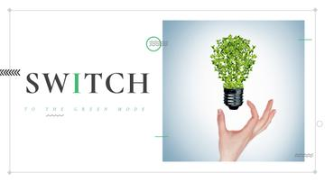 Eco Light Bulb with Leaves