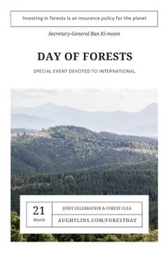 International Day of Forests Event with Scenic Mountains