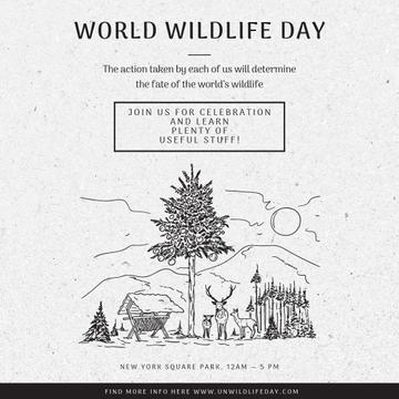 World wildlife day with Nature Environment illustration