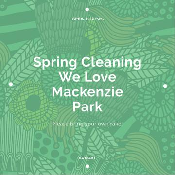 Spring cleaning Announcement