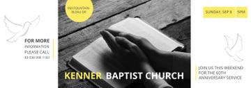 Prayer Invitation Hands on Bible Book