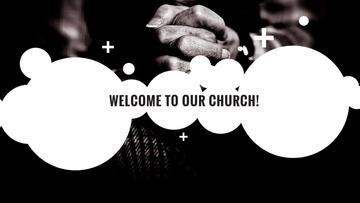 Church Invitation Hands Clasped in Prayer