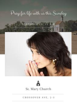 St. Mary Church with Woman praying