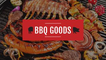 BBQ Party Invitation with Grilled Sausages