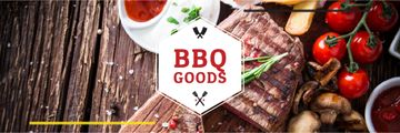 BBQ Food Offer with Grilled Meat