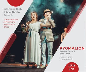 Theater Invitation Actors in Pygmalion Performance