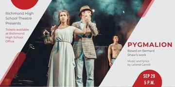 Theatre Invitation with Actors in Pygmalion Performance