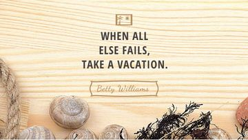 Travel inspiration with Shells on wooden background