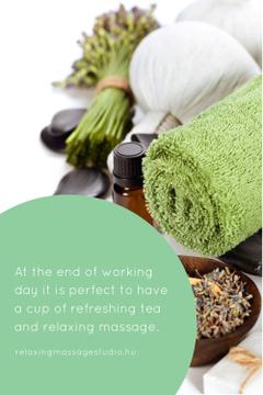 Relaxing massage studio