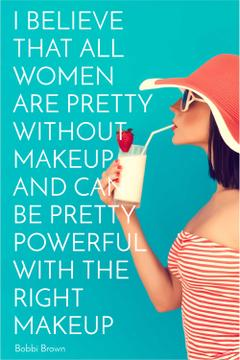 Citation about women without makeup