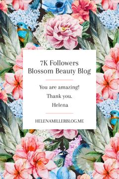 Beauty blog Ad in Blossom