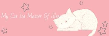 Cute Cat Sleeping in Pink