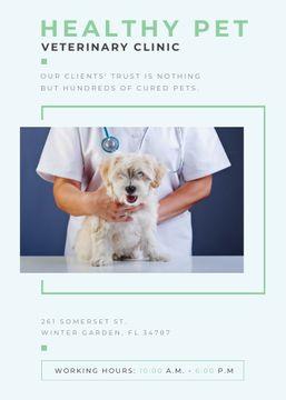 Vet Clinic Ad Doctor Holding Dog