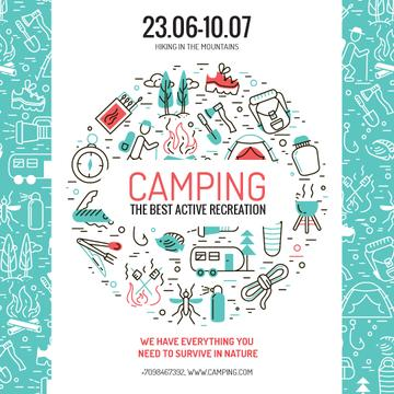 Camping Trip Advertisement